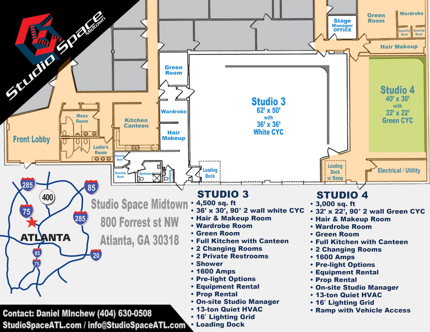 Studio Space Atlanta Midtown floor plan Studio 4