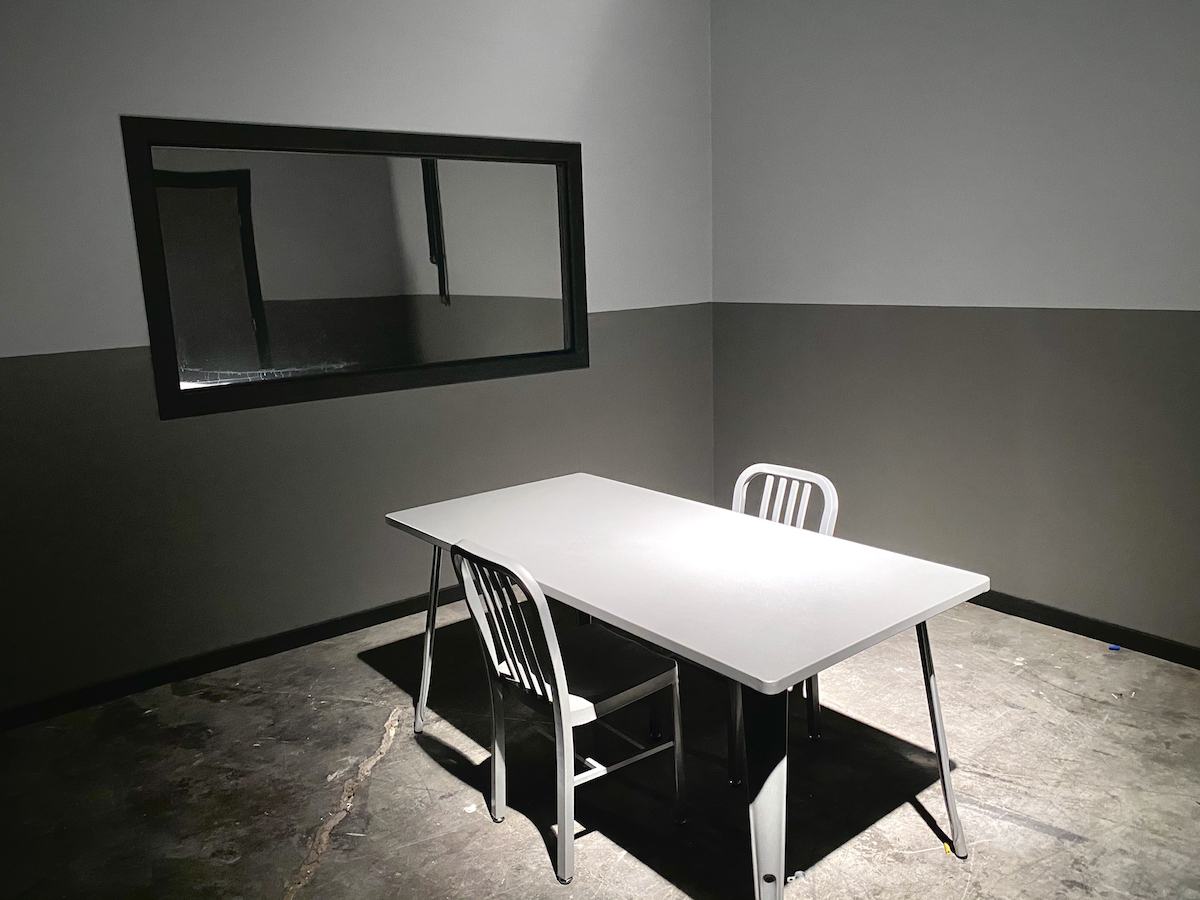 Interrogation Room standing set Studio Space Atlanta